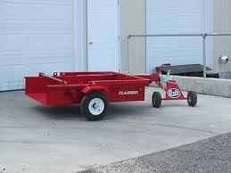 Red Drop Bed Utility Trailer